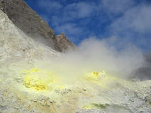 Sulphur rocks on White Island Royalty Free Stock Image