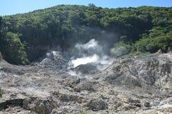 Sulphur Springs i St Lucia royaltyfria bilder