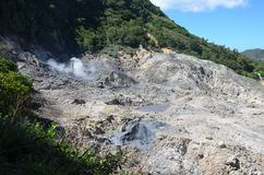 Sulphur Springs i St Lucia royaltyfri bild