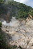 Sulphur Springs, Soufriere, Santa Lucía fotografía de archivo