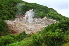 Sulphur Springs Volcano Saint Lucia Royalty Free Stock Images