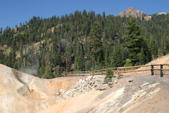 Sulphur Works. Sulpher Works in Lassen Volcanic National Park Stock Photo