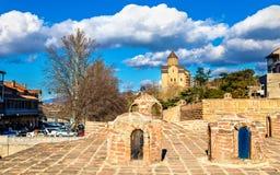 Sulphurbad i det Abanotubani området av Tbilisi Fotografering för Bildbyråer