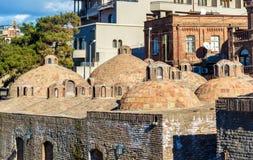 Sulphurbad i det Abanotubani området av Tbilisi Royaltyfri Bild