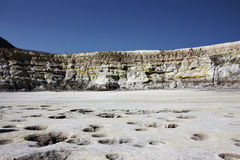 sulphuric vulkan Fotografering för Bildbyråer