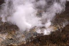 Sulphurous dunst, Owakudani, Japan fotografering för bildbyråer