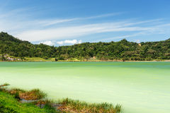 Sulphurous lake - Danau Linow Stock Photos