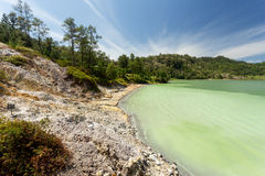 Sulphurous lake - Danau Linow Stock Images