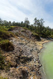 Sulphurous lake - Danau Linow Royalty Free Stock Images