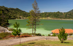 Sulphurous lake - danau linow indonesia Stock Photography
