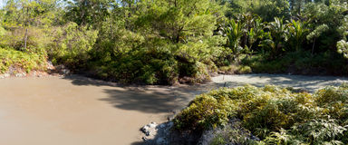 Sulphurous lakes near Manado, Indonesia Royalty Free Stock Image