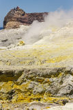 Sulphurous rocks on White Island Royalty Free Stock Photo