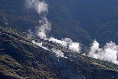 Sulphurous vapor, Owakudani, Japan Stock Image