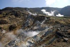 Sulphurous vapor, Owakudani, Japan Stock Images