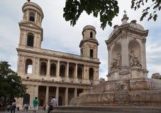 sulpice του Παρισιού Άγιος εκκλησιών Στοκ εικόνα με δικαίωμα ελεύθερης χρήσης