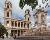 sulpice του Παρισιού Άγιος εκ&kap Στοκ εικόνα με δικαίωμα ελεύθερης χρήσης