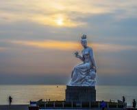 Sulpture ShenNv,兴城市,中国 免版税库存照片