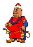 Sultão do asiático dos desenhos animados Imagem de Stock