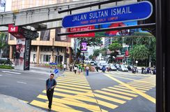 Sultão Ismail de Jalan, Kuala Lumpur Foto de Stock