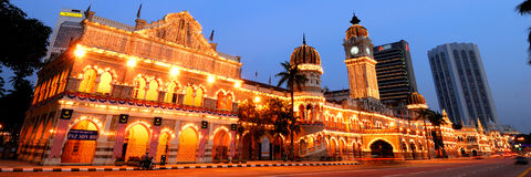 The Sultan Abdul Samad Building. In Jalan Raja is one of the most well known landmarks in the city. The construction of this building started in 1893 and was Stock Images