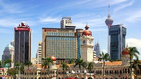 Sultan Abdul Samad Building. Royalty-vrije Stock Foto