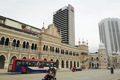 Sultan Abdul Samad Building is een de recent-negentiende eeuwgebouw royalty-vrije stock fotografie