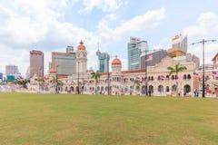 The Sultan Abdul Samad building, Kuala Lumpur, Malaysia. KUALA LUMPUR, MALAYSIA - AUGUST 14, 2016: The Sultan Abdul Samad building is located in front of the Stock Image