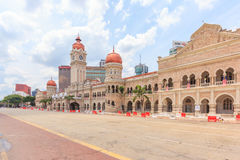 The Sultan Abdul Samad building, Kuala Lumpur, Malaysia. KUALA LUMPUR, MALAYSIA - AUGUST 14, 2016: The Sultan Abdul Samad building is located in front of the Stock Photo