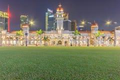 The Sultan Abdul Samad building, Kuala Lumpur, Malaysia. KUALA LUMPUR, MALAYSIA - AUGUST 14, 2016: The Sultan Abdul Samad building is located in front of the Stock Photos