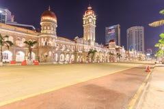 The Sultan Abdul Samad building, Kuala Lumpur, Malaysia. KUALA LUMPUR, MALAYSIA - AUGUST 14, 2016: The Sultan Abdul Samad building is located in front of the Royalty Free Stock Images