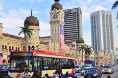 Sultan Abdul Samad building panorama stock images