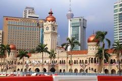 Sultan Abdul Samad Building and the skyline of Kuala Lumpur Royalty Free Stock Photos