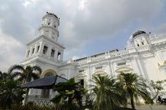 Sultan Abu Bakar State Mosque em Johor Bharu, Malásia Fotos de Stock Royalty Free