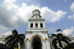 Sultan Abu Bakar State Mosque en Johor Bharu, Malasia imagen de archivo libre de regalías