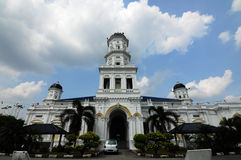 Sultan Abu Bakar State Mosque i Johor Bharu, Malaysia royaltyfri fotografi
