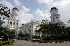 Sultan Abu Bakar State Mosque in Johor Bharu, Malaysia royalty free stock images