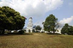 Sultan Abu Bakar State Mosque in Johor Bharu, Malaysia Stockfotografie