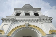 Sultan Abu Bakar State Mosque in Johor Bharu, Malaysia Lizenzfreies Stockfoto
