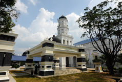 Sultan Abu Bakar State Mosque in Johor Bharu, Malaysia Royalty Free Stock Photo
