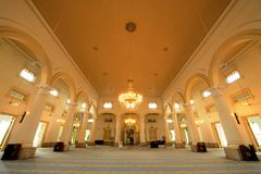 Sultan Abu Bakar State Mosque. Is the state mosque of Johor, Malaysia. Located along Jalan Skudai, Johor Bahru, the mosque was constructed between 1892 and 1900 stock photos