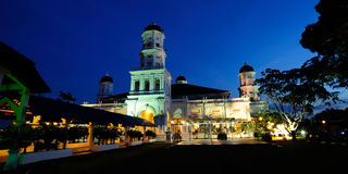 Sultan Abu Bakar State Mosque. (Malay:Masjid Negeri Sultan Abu Bakar) is the state mosque of Johor, Malaysia. Located along Jalan Skudai, Johor Bahru, the royalty free stock photo