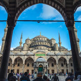 Sultan Ahmed Blue Mosque courtyard in Istanbul Royalty Free Stock Photos