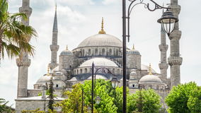 Sultan Ahmed Blue Mosque in Istanbul stock video footage