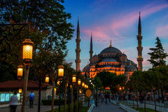 Sultan Ahmed Blue Mosque in Istanbul, Turkey at Stock Images