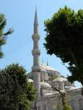 Sultan Ahmed Blue Mosque según lo visto a través un parque Fotos de archivo libres de regalías