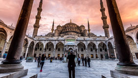 Sultan Ahmed Mosque Royaltyfri Fotografi