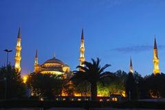Sultan Ahmed Mosque (Blauwe Moskee) in Istanboel Royalty-vrije Stock Foto's