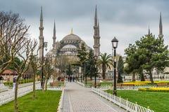 Sultan Ahmed Mosque/Blauwe Moskee, Istanboel, Turkije stock afbeeldingen
