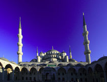 The Sultan Ahmed Mosque - Blue Mosque of Istanbul Stock Photo