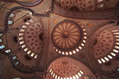 The Sultan Ahmed Mosque - Blue Mosque of Istanbul Royalty Free Stock Photo